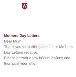 Mother's Day Letter Project – Western Sydney University