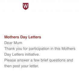Mother's Day Letter Project – Western Sydney University